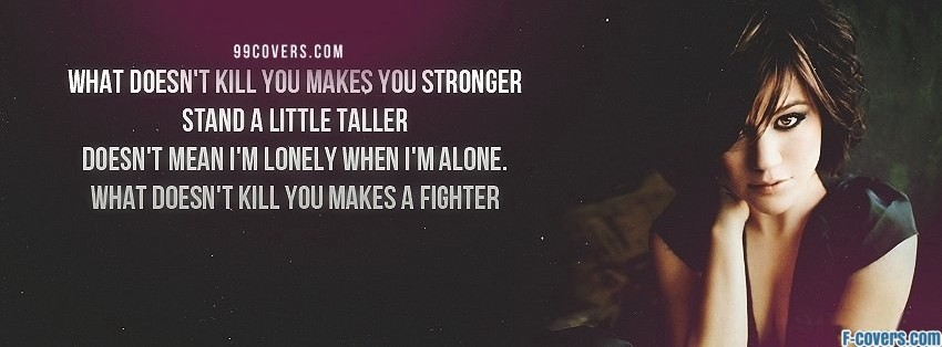 kelly clarkson stronger facebook cover