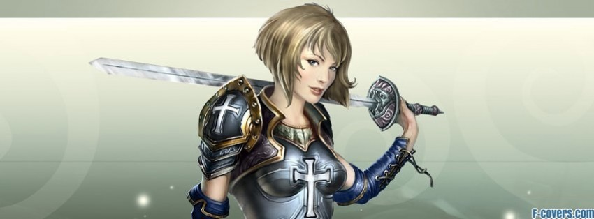 kings bounty armored princess amelie paladin facebook cover