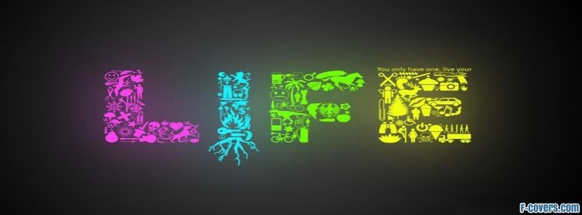 Life Color Logo Facebook Cover Timeline Photo Banner For Fb