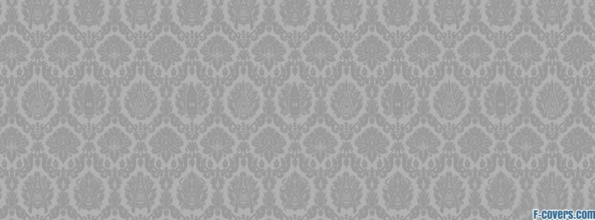 Light Grey Tools Pattern Facebook Cover Timeline Photo