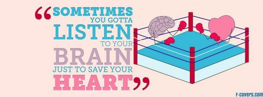 listen to your brain to save your heart facebook cover