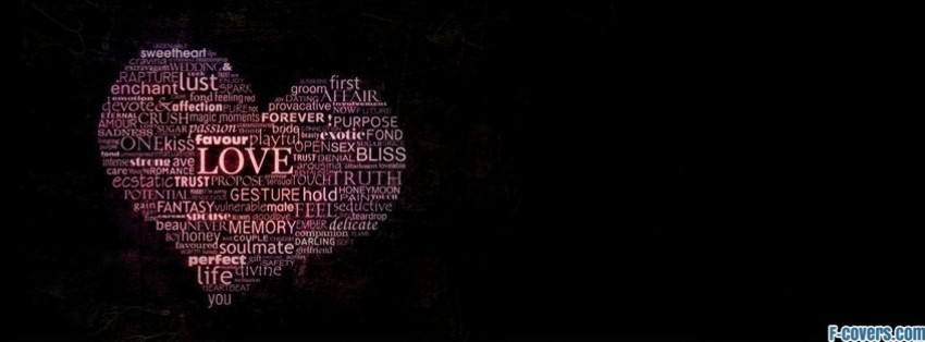 love heart type facebook cover