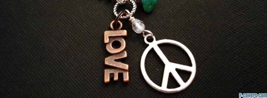 love peace hippie necklace facebook cover