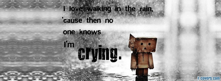 love walking in the rain facebook cover