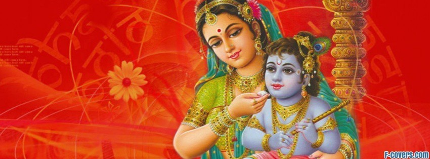 maa yashoda and krishna facebook cover