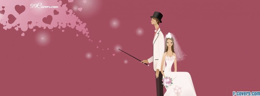 magical wedding facebook cover