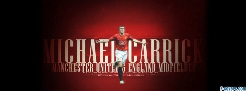 manchester united michael carrick facebook cover