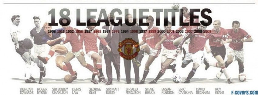 manchester united past to present facebook cover