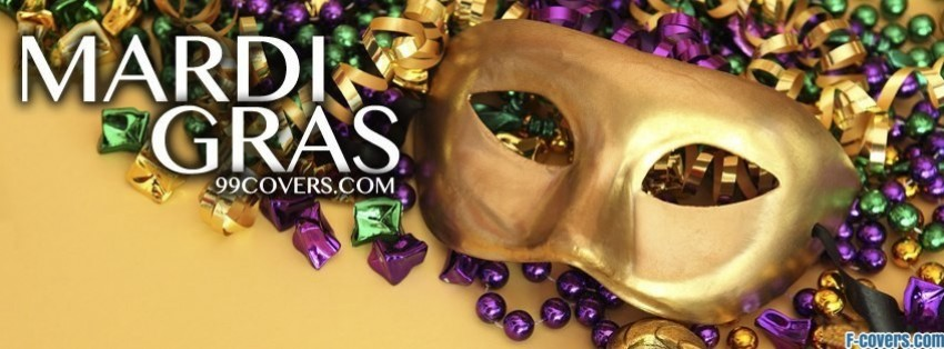 mardi gras mask facebook cover