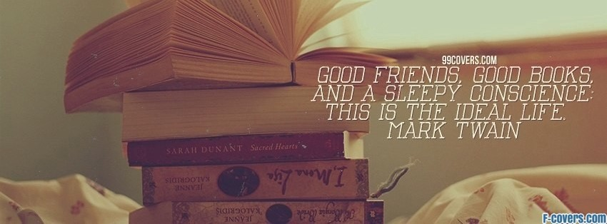 mark twain good books facebook cover