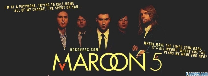 maroon 5 payphone lyrics facebook cover