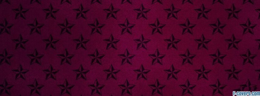 maroon and black star pattern facebook cover