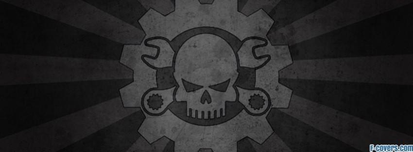 mechanical skull facebook cover