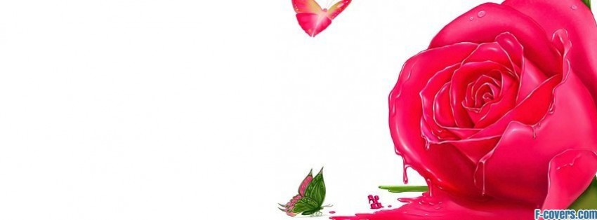 melting flower butterflies facebook cover
