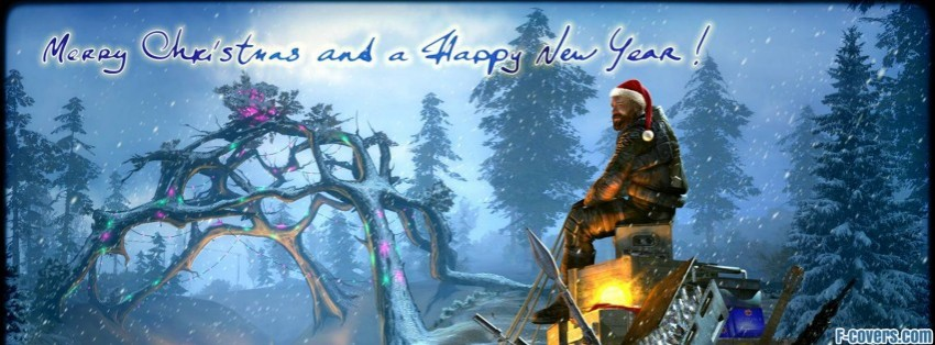 merry christmas and happy new year 2013 facebook cover