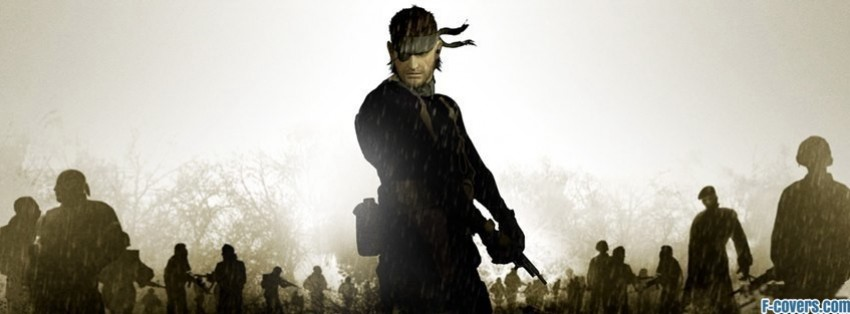 metal gear solid portable ops big boss facebook cover