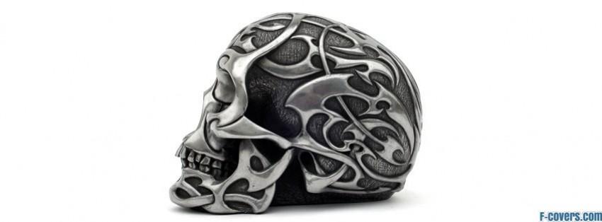 metal skull tribal facebook cover