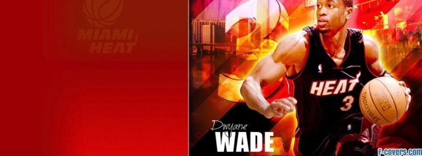 miami heat dwyane wade facebook cover