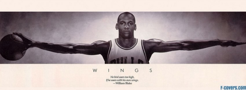 michael jordan wings facebook cover