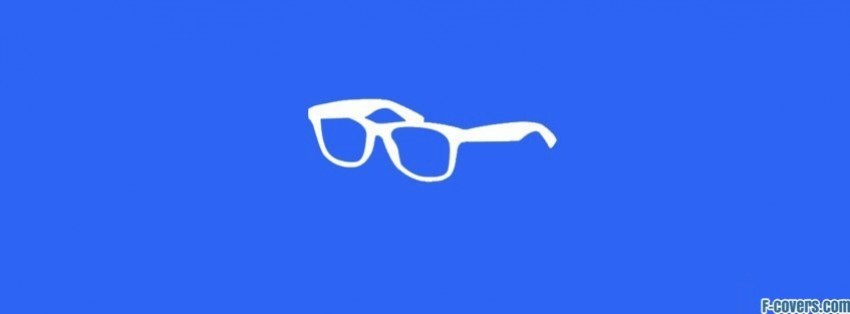 minimalistic hipster glasses facebook cover