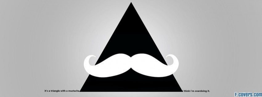 minimalistic hipster triangle with a mustache facebook cover
