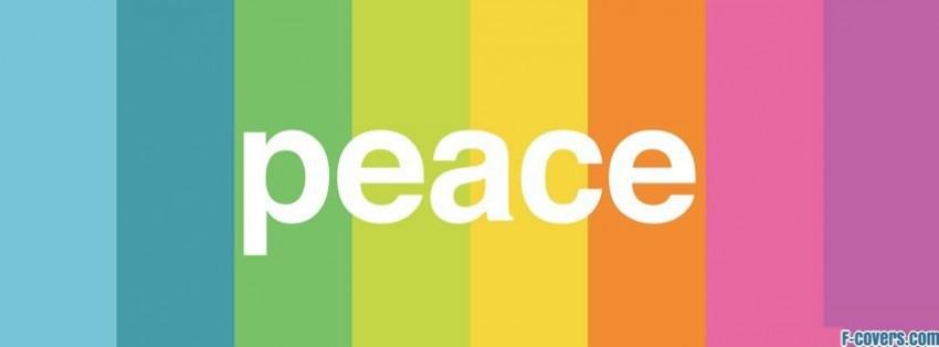 minimalistic peace rainbow facebook cover