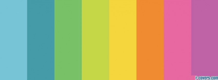 minimalistic rainbows colors stripes facebook cover