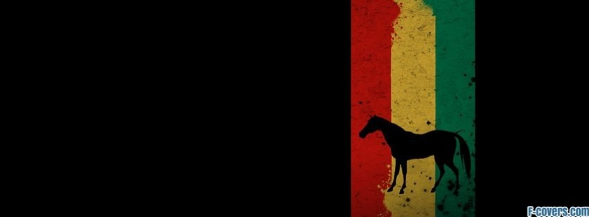 minimalistic striped texture horse facebook cover