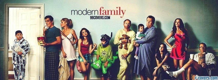 Modern Family Bathroom Line Facebook Cover