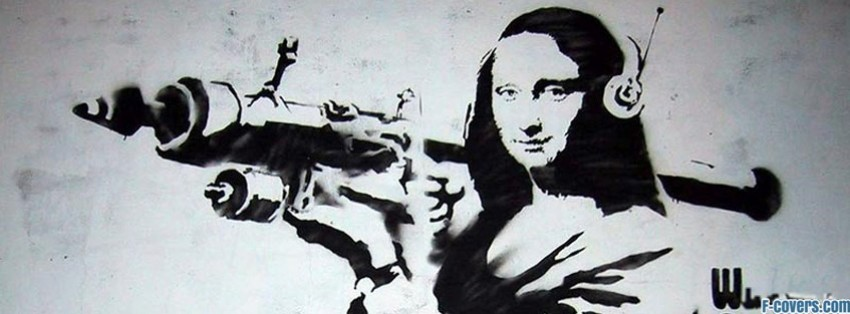 mona lisa street art facebook cover