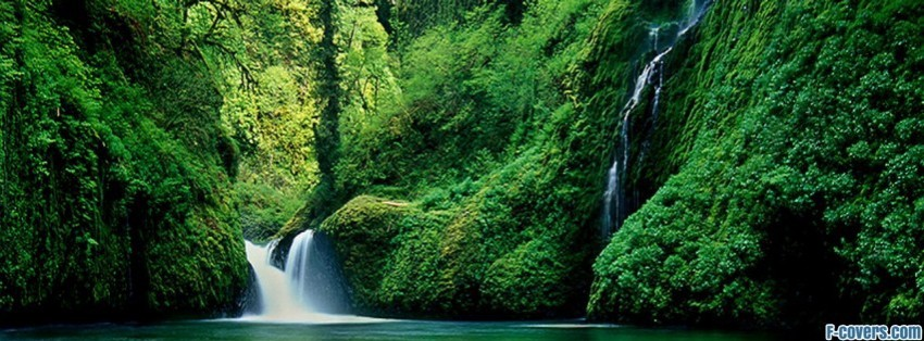 mountain river waterfall on fast mountain river facebook cover