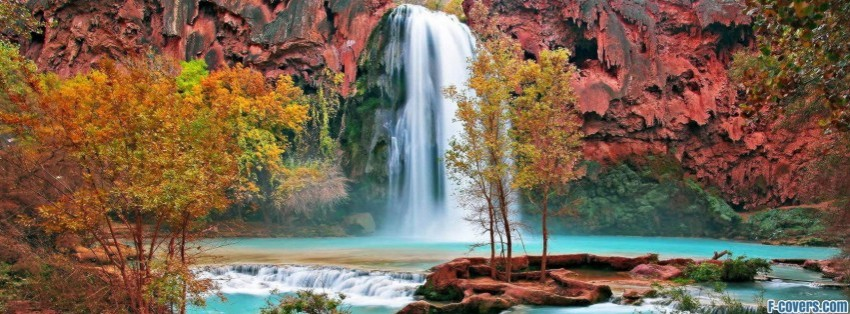 Mountain Waterfall Beautiful Facebook Cover Timeline Photo Banner For Fb