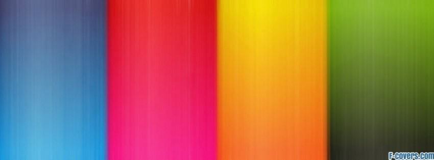 multicolor stripes pattern blue red yellow green facebook cover