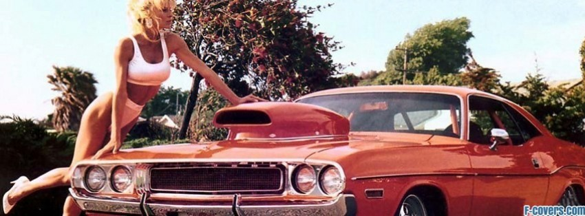 Muscle Car With Girl Facebook Cover Timeline Photo Banner For Fb