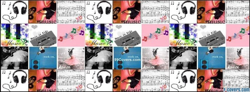 Facebook Cover Collage : Music collage facebook cover timeline photo banner for fb