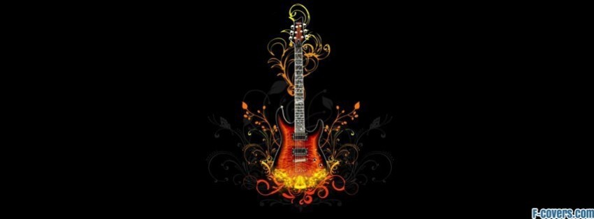 Music Guitar Abstract Design Facebook Cover Timeline Photo Banner For Fb