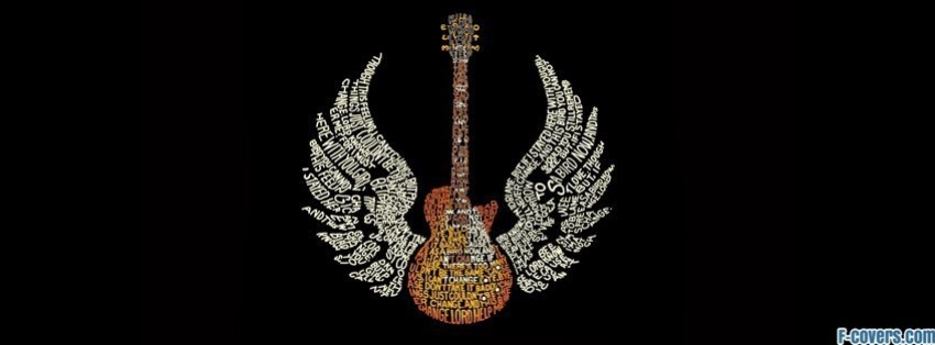 music guitar epic typography lyrics facebook cover