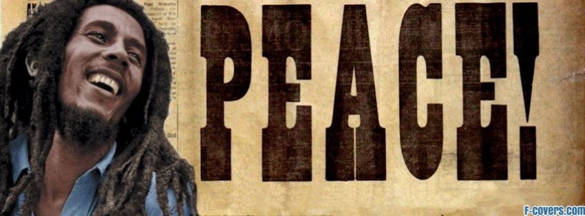 music peace bob marley facebook cover