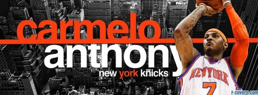 new york knicks carmelo anthony facebook cover