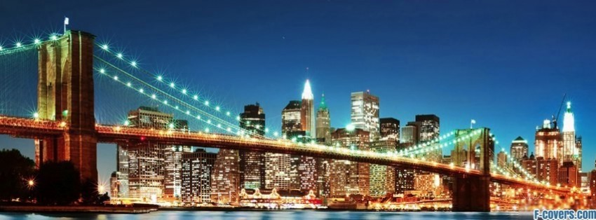 new york lights facebook cover
