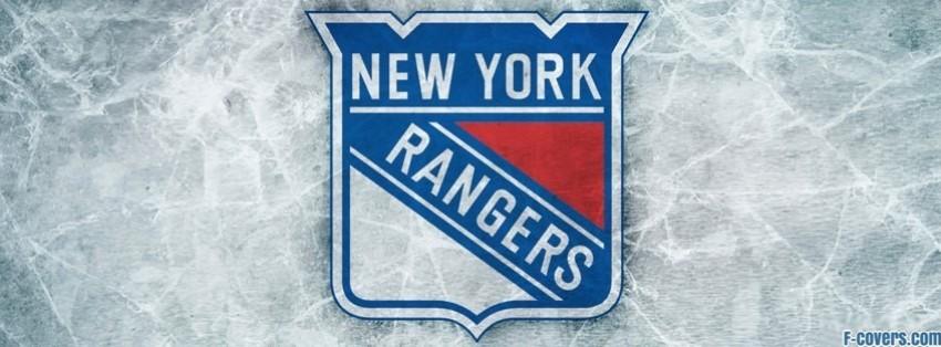 new york rangers ice logo facebook cover