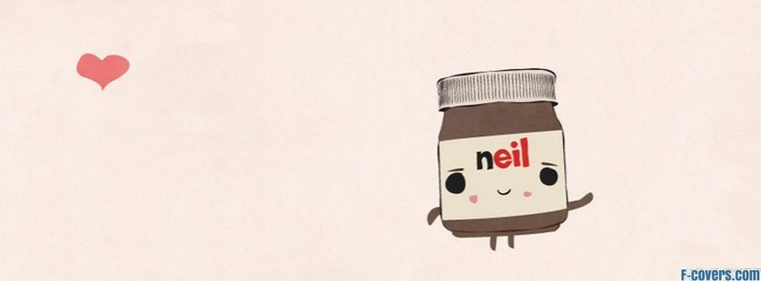 nutella heart facebook cover