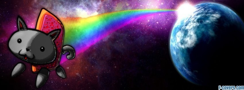 nyan cat 2 facebook cover