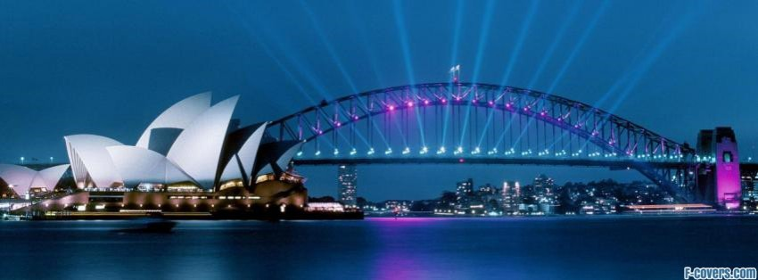 opera house and harbour bridge facebook cover