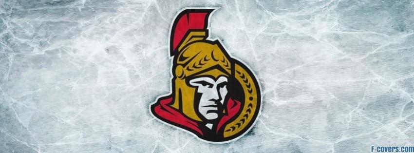Ottawa Senators Ice Logo Facebook Cover Timeline Photo