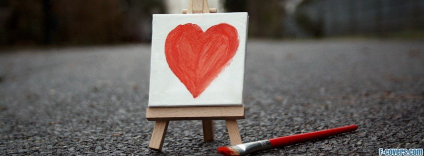 painted heart facebook cover
