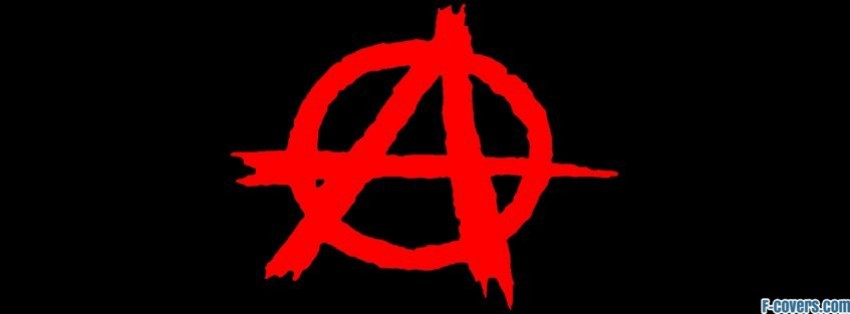 peace anarchy sign facebook cover