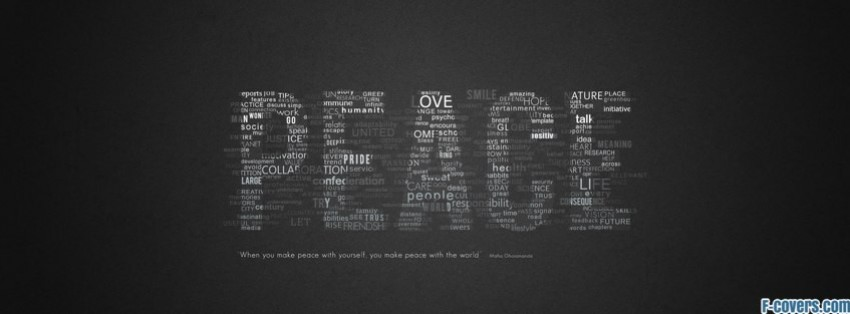 peace infographics typography facebook cover