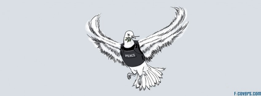 peace pigeon facebook cover
