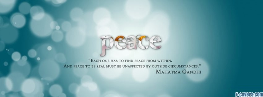peace quote 3 facebook cover